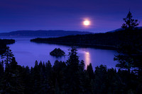 Emerald bay Moonrise
